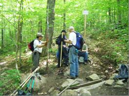 Corvée printanière d'entretien des sentiers au mont Wright