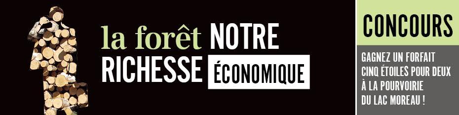 La forêt notre richesse économique