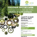 Inscrivez-vous au Colloque 2017 de l'AF2R