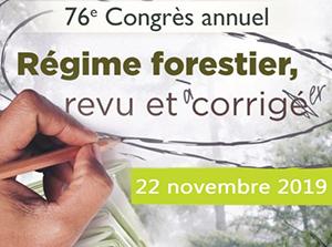 Congrès de l'AFAT – Régime forestier, revu et corrigé