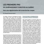 Article – Les premiers pas de l'aménagement forestier au Québec