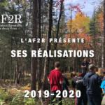 L'AF2R présente ses réalisations 2019-2020