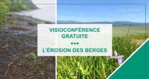 Visioconférence gratuite sur l'érosion des berges – 19 mars 2021